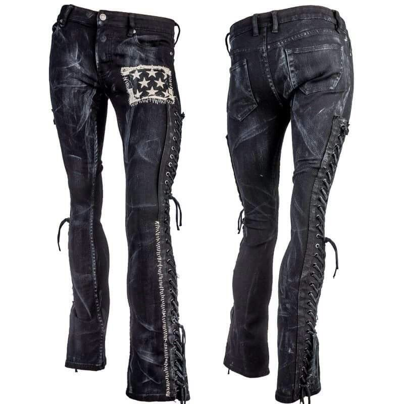 d446681e Wornstar Outlaw Pants | wornstar | Denim, lace, Black denim, Black pants