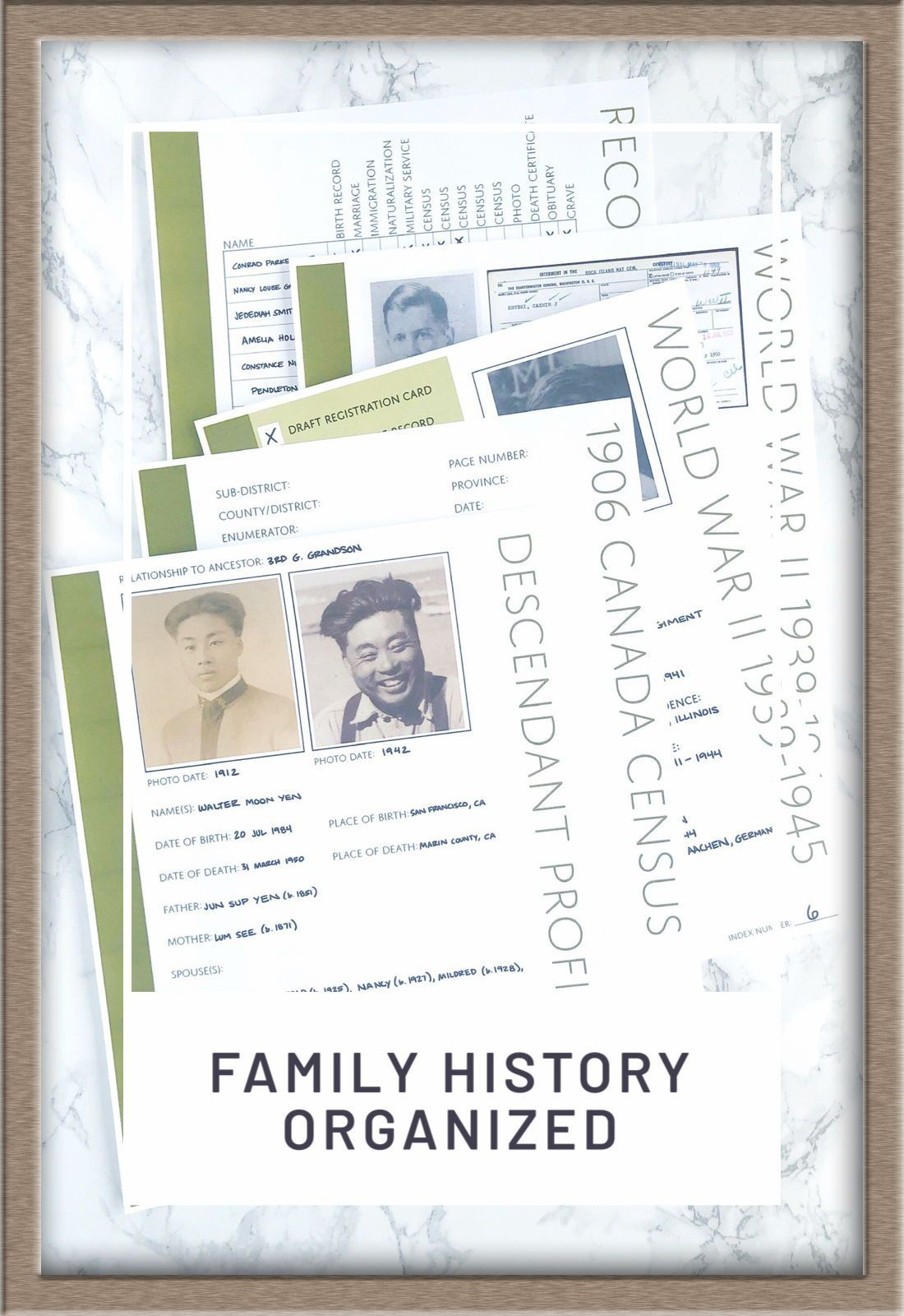 Family Tree Notebooks In