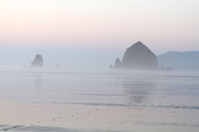 Cannon-Beach, Oregon - mysteriously beautiful...want to go.