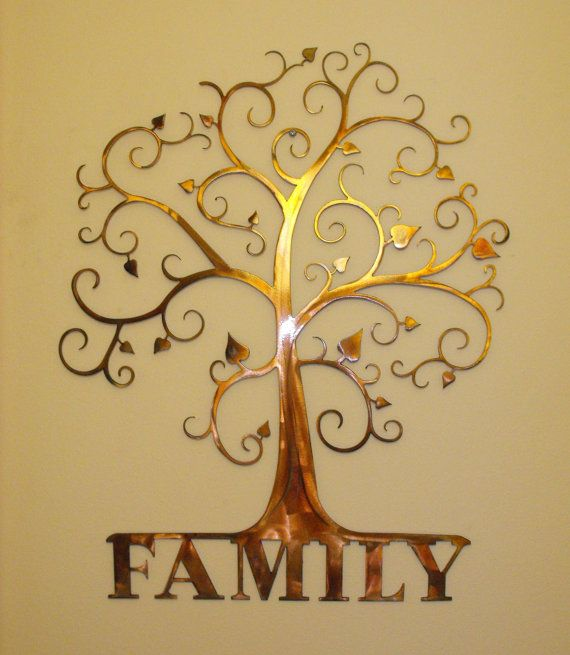 Custom Family Tree Wall Art By MetalArchitect On Etsy, $65