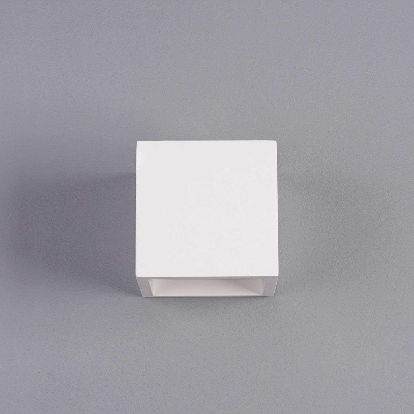 Applique LED Marita en forme de dé en plâtre #gesso