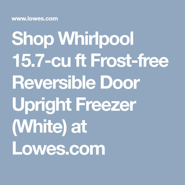 Shop Whirlpool 15 7 Cu Ft Frost Free Reversible Door