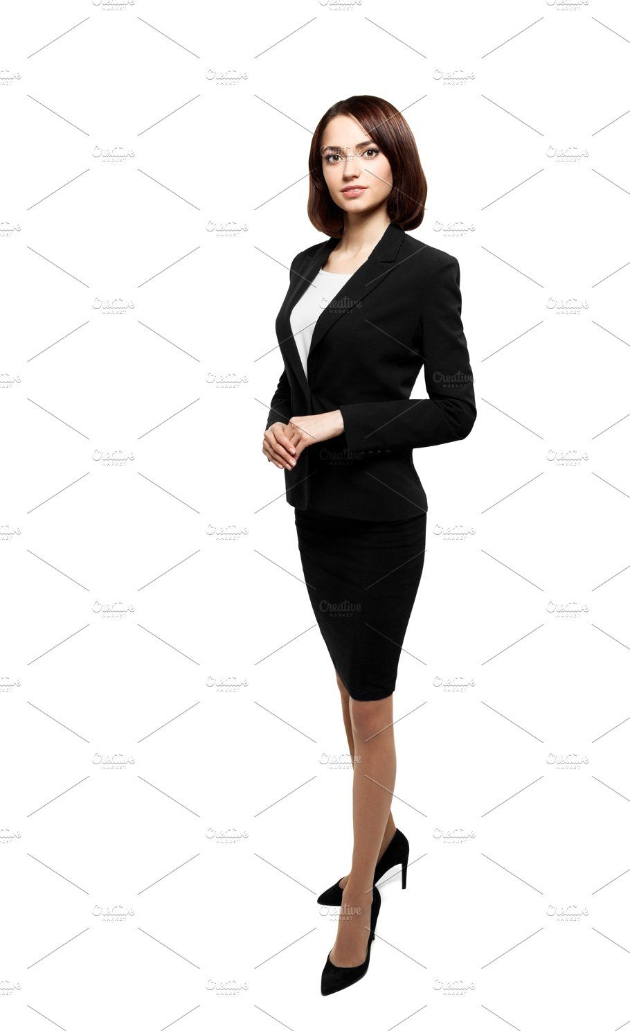 Successful Business Woman Isolated Over White With Images