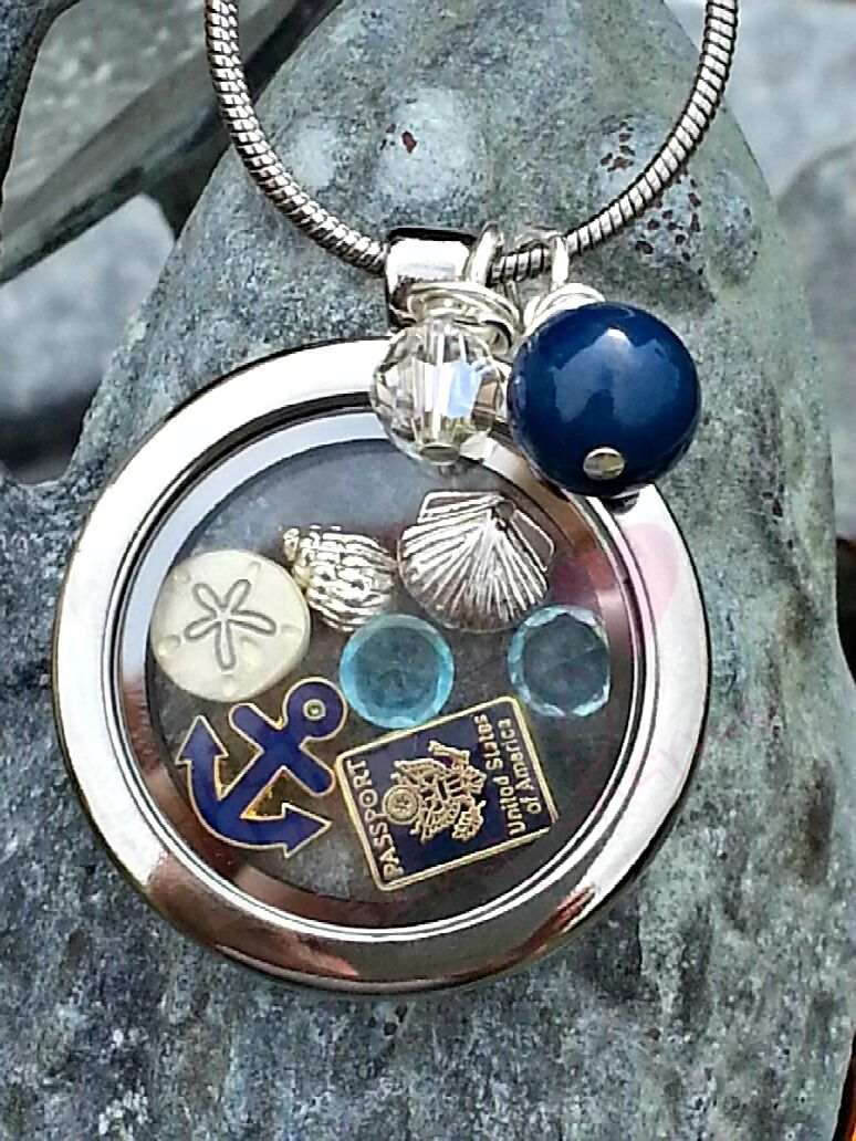 build charm a floating glass round lockets locket necklace