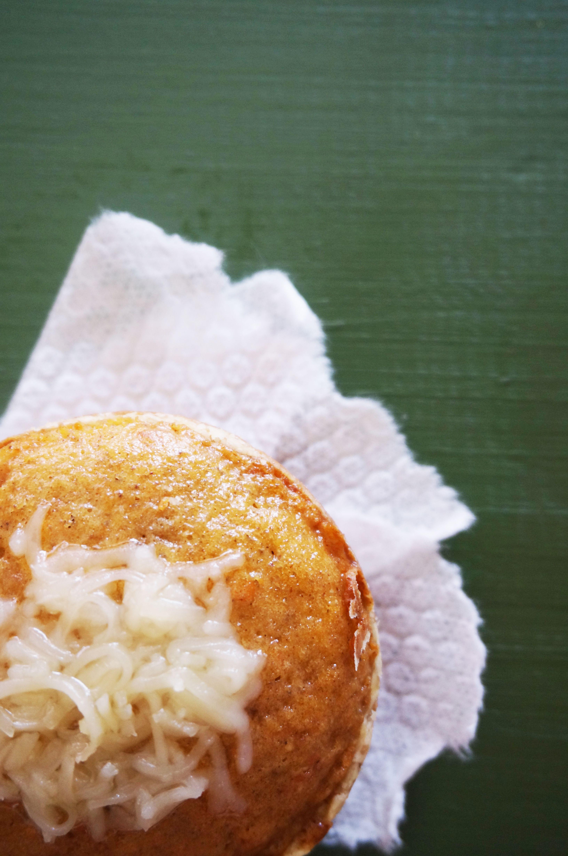 Panqué de zanahoria con queso y jamón. Delicioso!