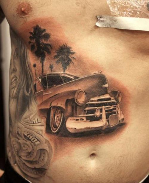 Car Tattoos Are Very Beautiful To Look At They Usually Have A Car