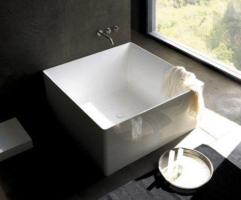 free standing square bathtubs salle de b beaut. Black Bedroom Furniture Sets. Home Design Ideas