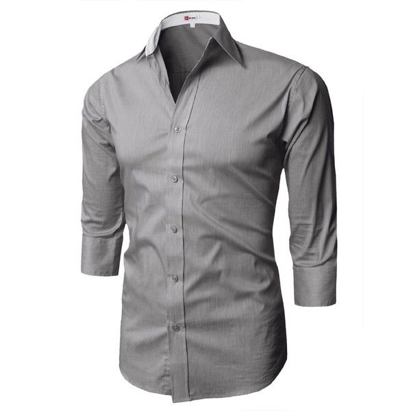 H2H Mens Fashion Dress Shirts with 3/4 Sleeve Various Colors (38 AUD)