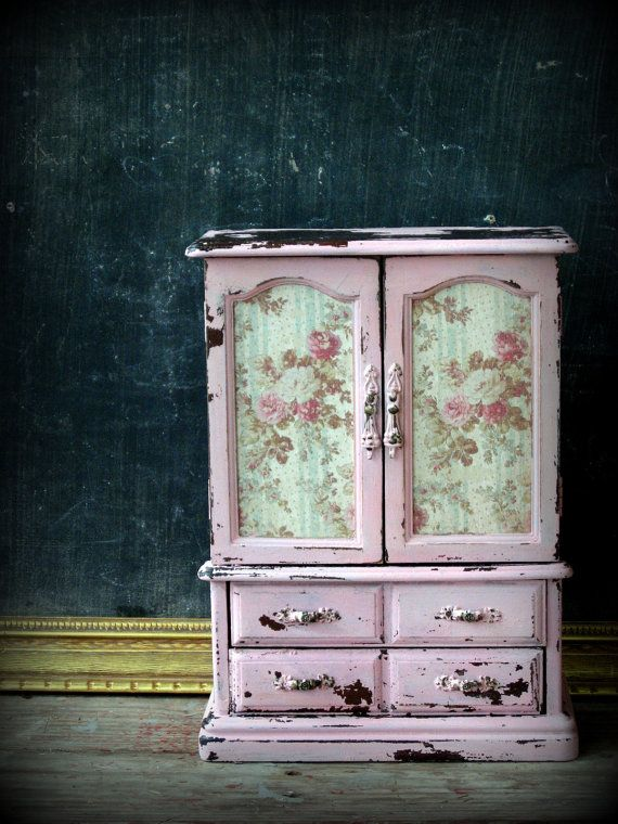 Vintage Pink French Armoire Jewelry Box by PoorPitifulPetunia ...
