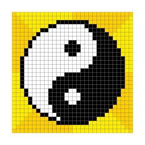 8 Bit Pixel Art Yin Yang Symbolby Wongstock Pixel Art Grid