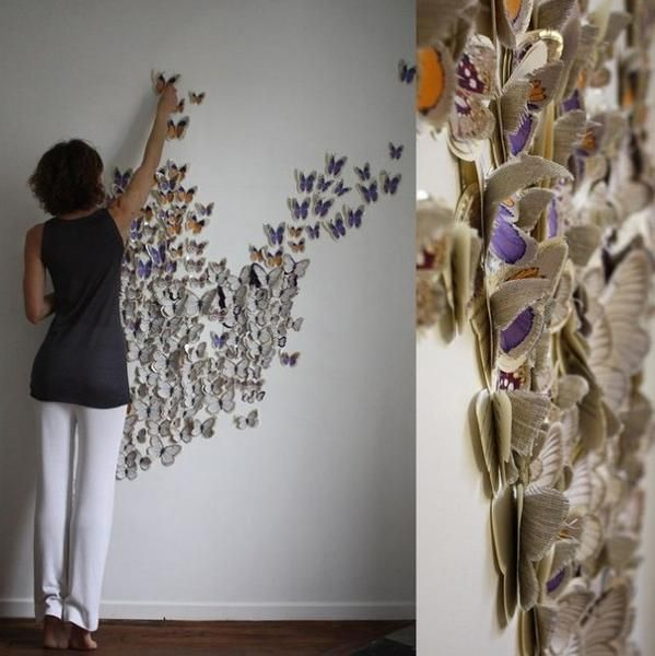 Handmade Butterflies Decorations On Walls Paper Craft Ideas Homemade Wall Decorations Decor Crafts Butterfly