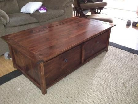 Coffee Table Toy Chest.Diy Furniture Diy Tidy Up Coffee Table With Trundle Toy Box