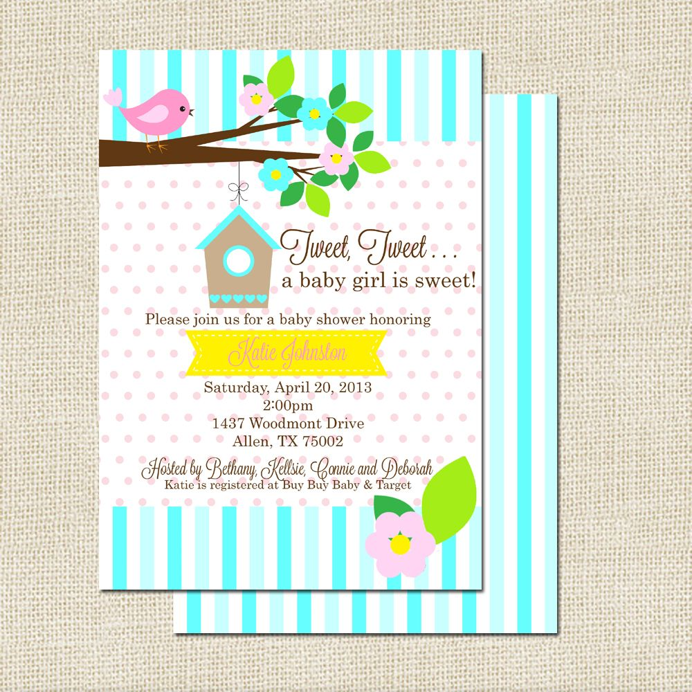 A sweet way to celebrate a baby coming is with this darling birdie ...