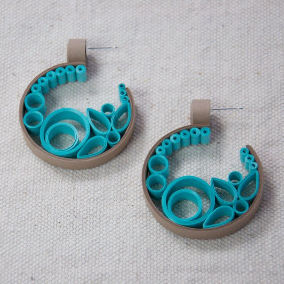 DIY Tutorial Quilled Paper Semi Circle Scroll Earrings + Bonus Quilled Shapes Tutorial - 2 for ...