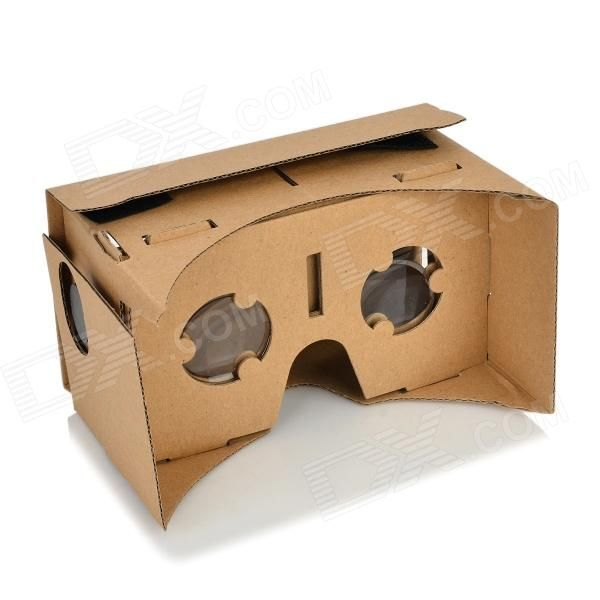 assembling virtual reality cardboard w resin lens set khaki one