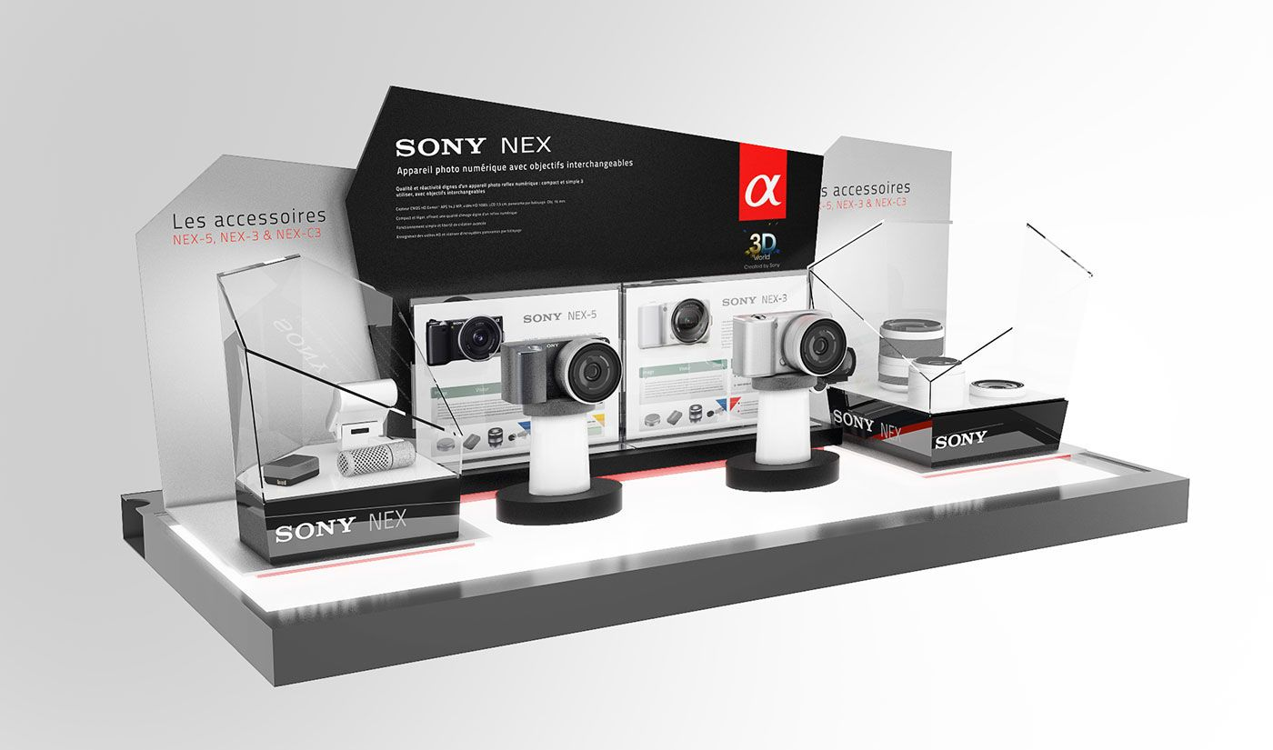 SONY - Camera displays (COLLECTION) on Behance | [ Product ] | ディスプレイ、デザイン、卓上