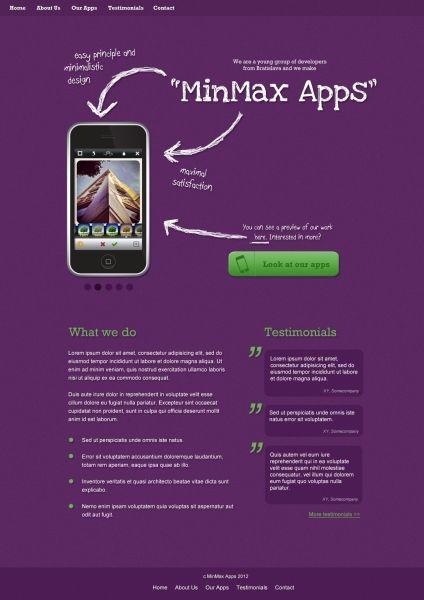 MinMax Apps (fake) design for practice Design, App