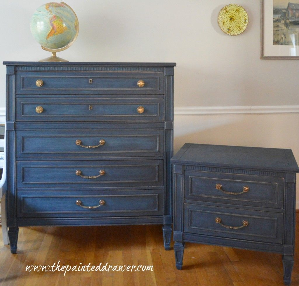 Shop Dressers and Chests | The Painted DrawerA Set in Coastal Blue, $600  (SOLD