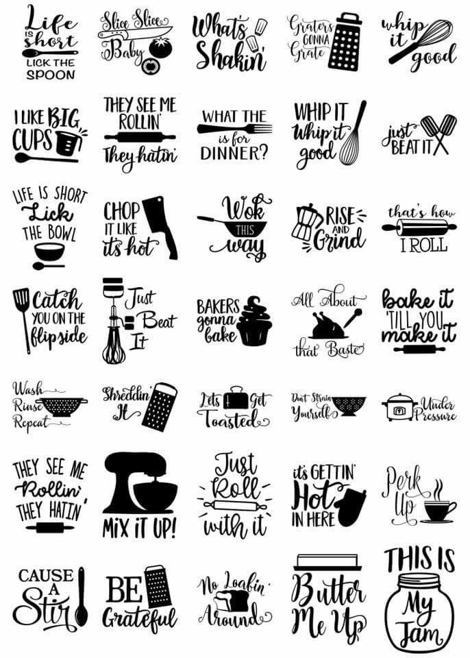 Happy Kitchen SVG Cut File Bundle #cricutcrafts