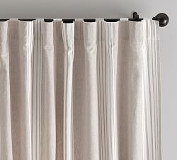 Riviera Stripe Blackout Curtain Charcoal With Images Custom Drapes Tuscan Kitchen Curtain Patterns
