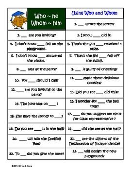 who whom relative pronouns anchor chart center activity task cards reading activities. Black Bedroom Furniture Sets. Home Design Ideas