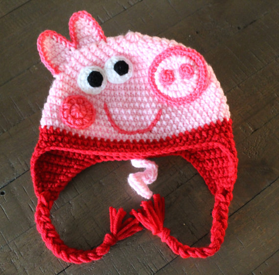 e7b55d93879 Peppa Pig or George Crochet Hat - Handmade to Order - Newborn to Adult