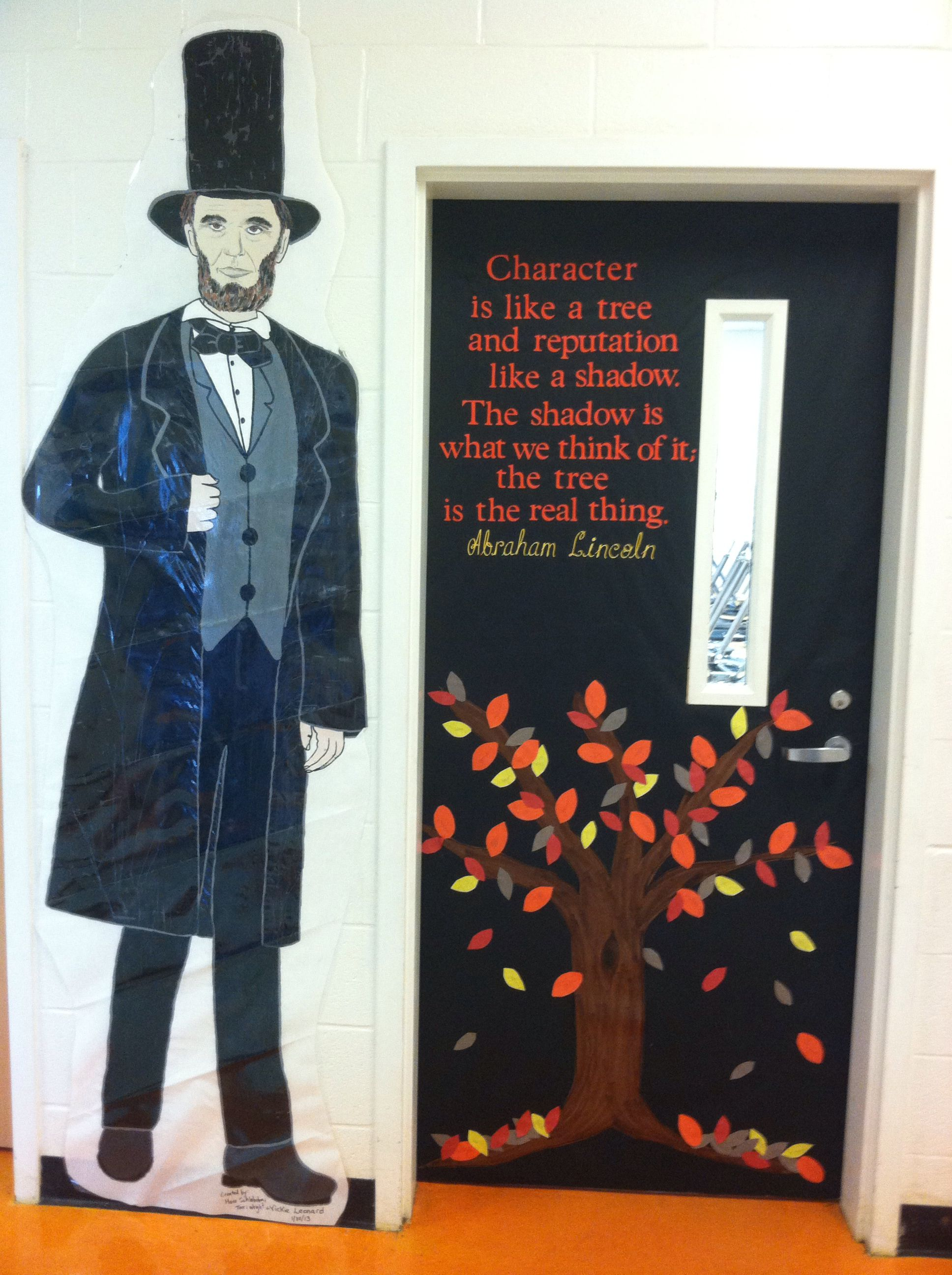 5th Grade Door At Rock Spring Elementary Featuring Abe