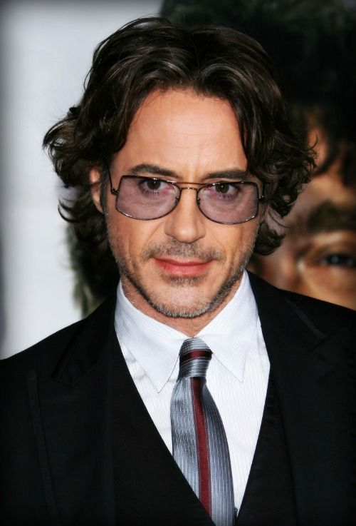 Robert Downey Jr., growing out his Sherlock Holmes hair.