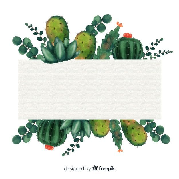 Watercolor Cactus Background Free Vector Free Vector Freepik
