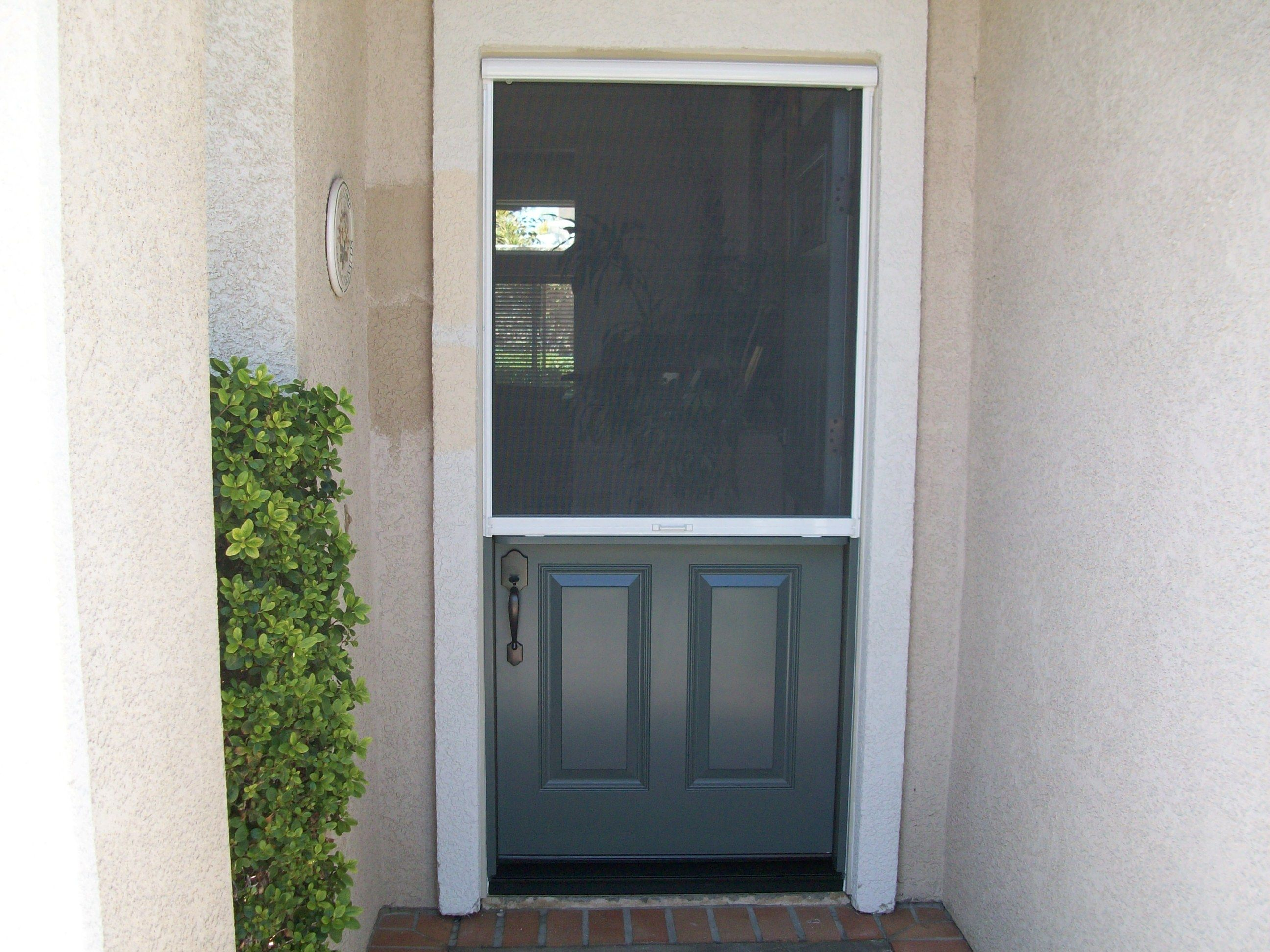 Dutch Door With Pull Down Hide A Screen Before And Afters And