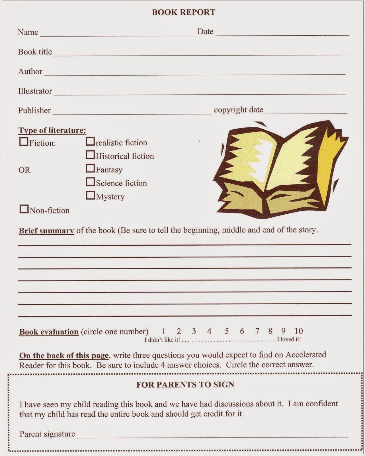 Tales Of A Fourth Grade Tartan Fourth Quarter Book Report Dates Book Report Templates Biography Book Report Template Book Report