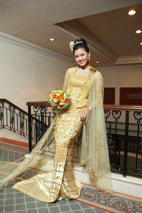Myanmar wedding dress | Myanmar Wedding Dress | Pinterest | Wedding ...