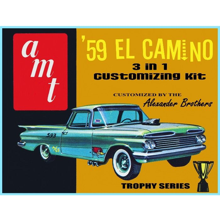 Amt 1959 el camino model car poster 3 in 1 customizing kit amt 1959 el camino model car poster 3 in 1 customizing kit alexander brothers publicscrutiny Image collections