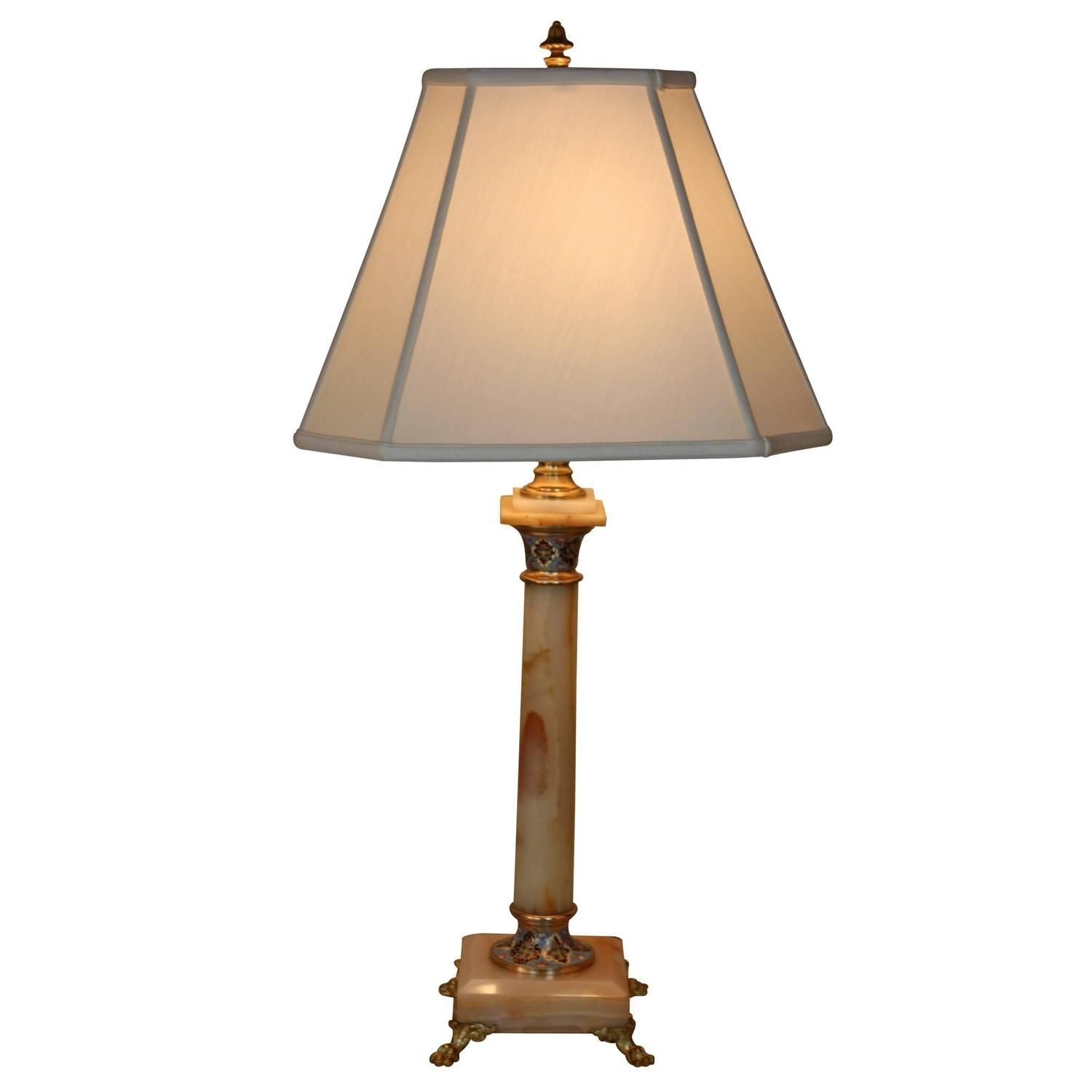 French 19th Century Bronze And Onyx Electrified Table Lamp Lu91365163783
