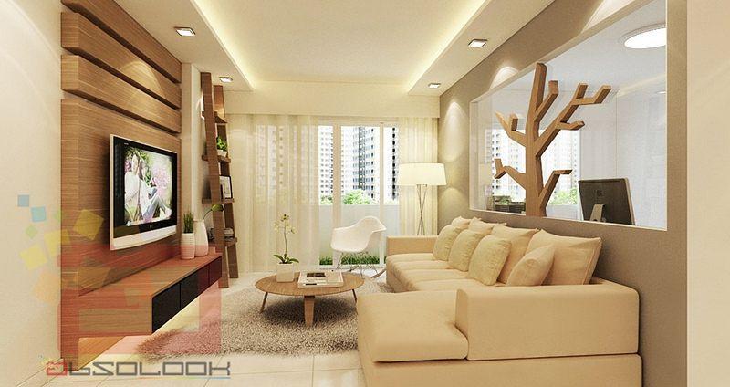 Hdb Bto Room Blk Waterway Terraces Interior Design Singapore Light Cosy Feel False