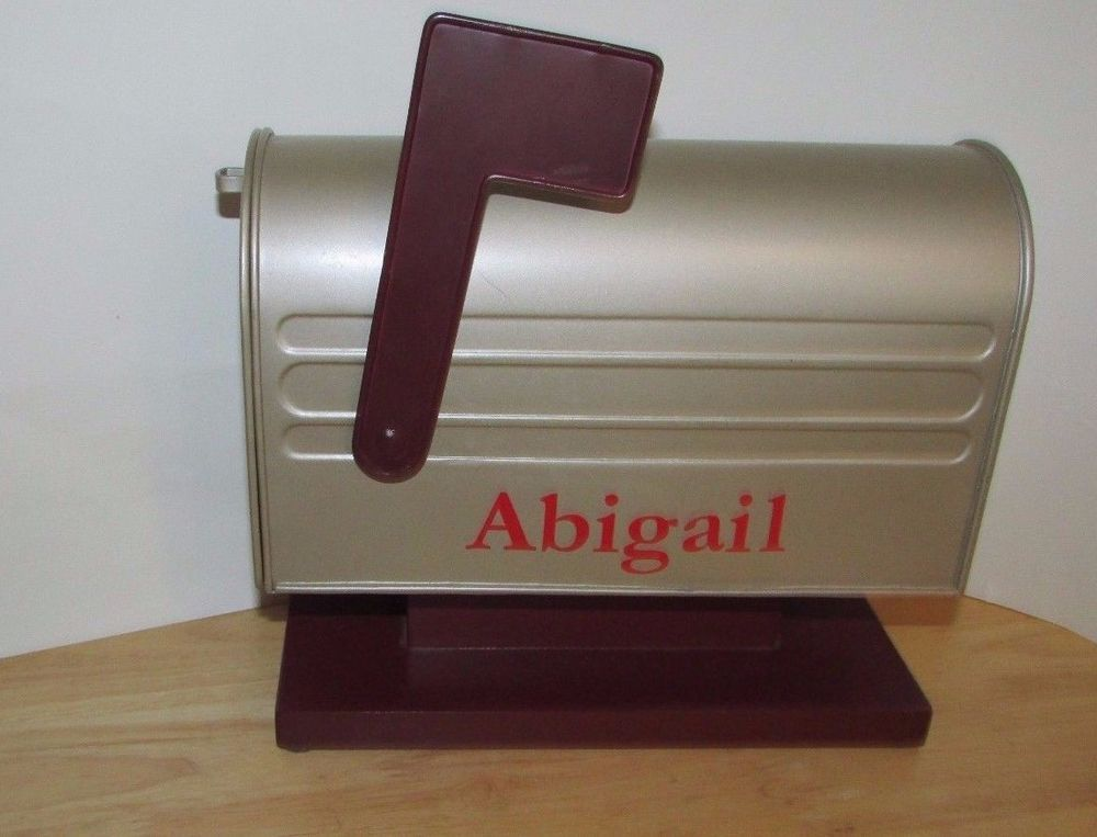 metal mailbox flag. Pottery Barn Kids Metal Mailbox W/ Flag Personalzied Abigail Stickers Decor #PotteryBarnKids M