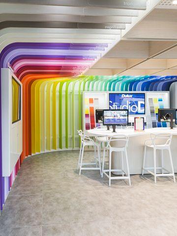 Dulux Studio D Colour Inspirations Pop Up Signage In