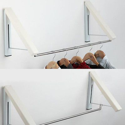 Indoor Wall Mounted Folding Clothes Airer Stand Dryer Clothes Line