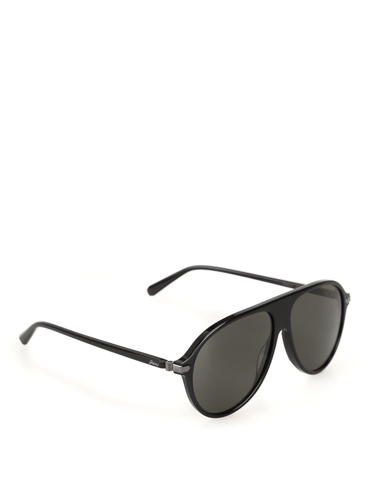 BRIONI BLACK ACETATE SUNGLASSES. #brioni