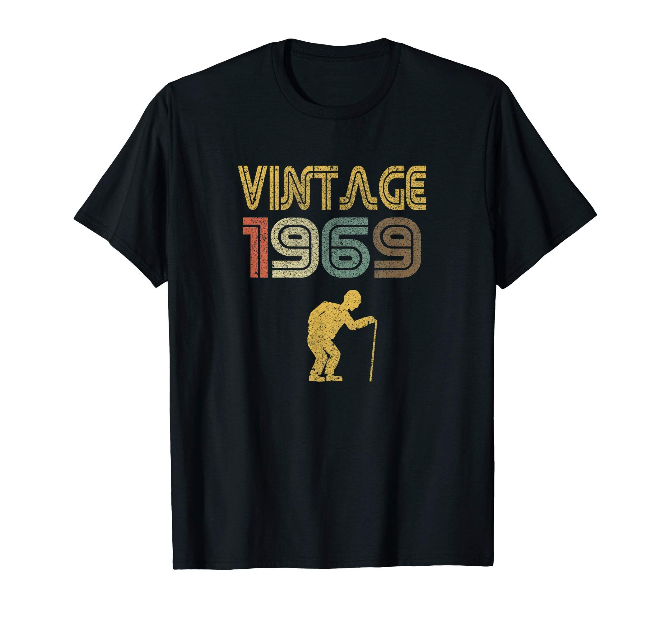 """88b3b074 Vintage 1969 T-Shirt - Funny 50th Birthday Gift - Know somebody turning 50?  This """"Vintage 1969"""" 50th Birthday T-Shirt will make a great gift for men,  ..."""