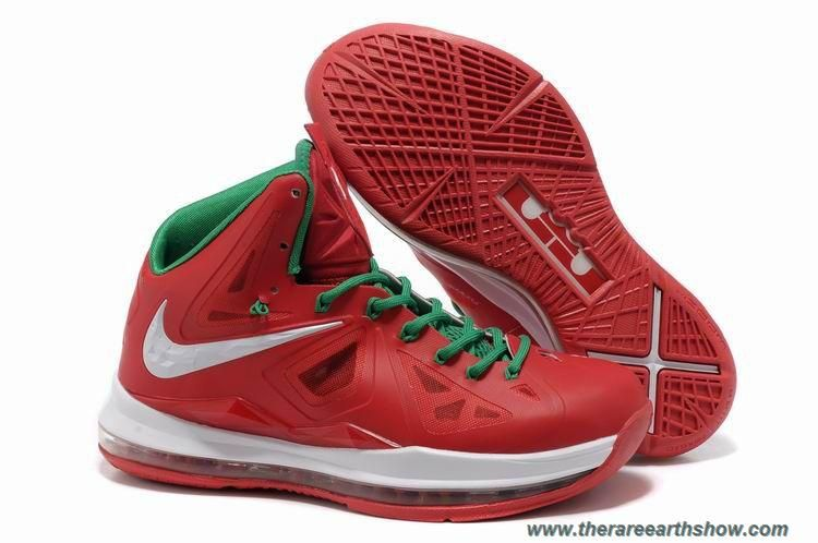 size 40 0e83b 555a7 Red Green White Nike Lebron X (10) Outlet