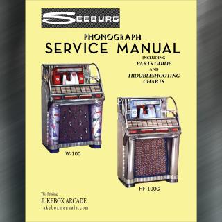 Printed Jukebox Manuals - Jukebox Arcade Seeburg HF-100G and