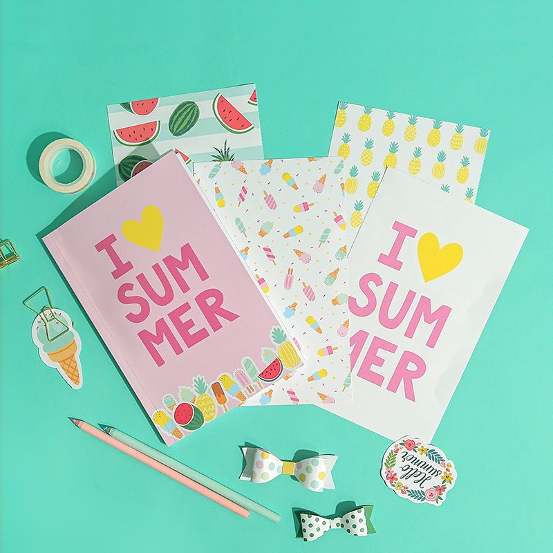 I Love Summer 32 sheet set /DIY cute Sticker Kawaii, planner Stationery FREE   | eBay