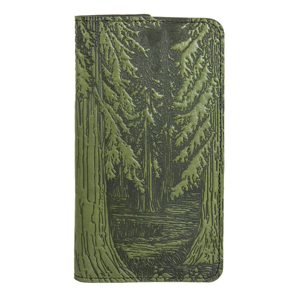 Leather Wallet Case for iPhone | Folio Style | Forest in Fern