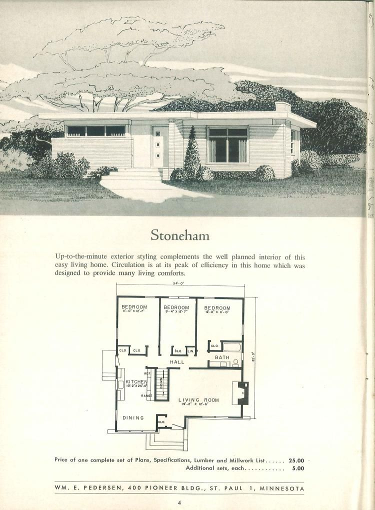 I Used To Love Looking At These Magazines As A Kid Mid Century Modern House Plans Modern Floor Plans Vintage House Plans