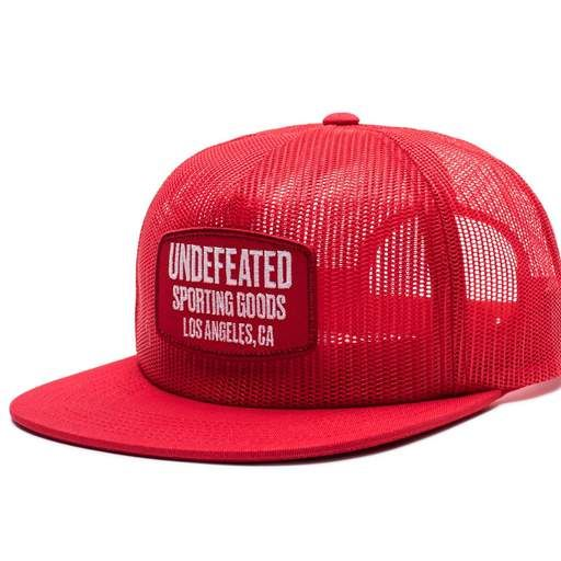 807b4e89 UNDEFEATED FULL MESH TRUCKER 5 Panel Hat, Caps Hats, Men's Hats, Red Fabric