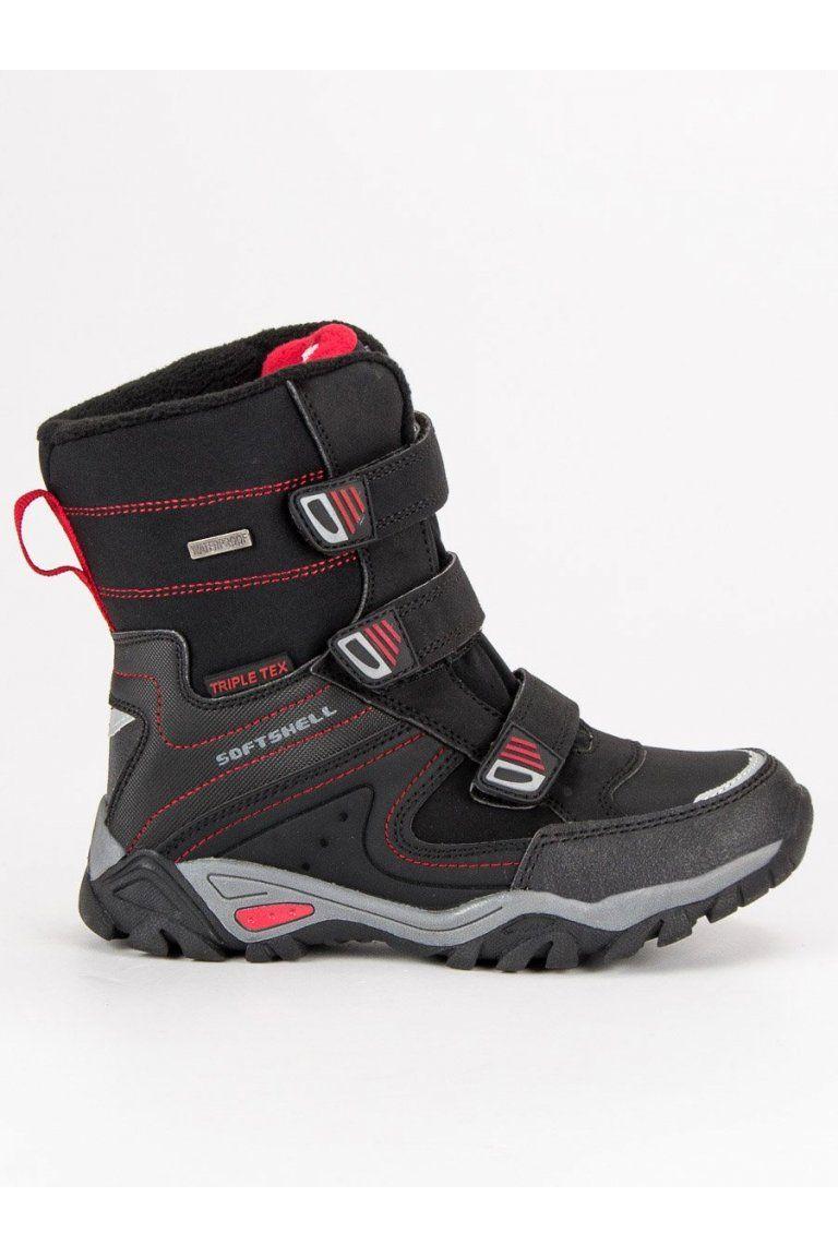 Čierne topánky na zimu snehule pre chlapcov American Club WT1808B-F ... 93a250776aa
