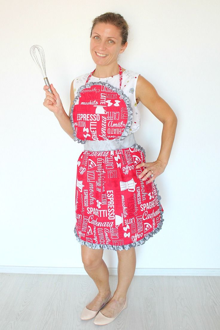 Vintage Apron Pattern with sweet ruffles | Nähprojekte ...