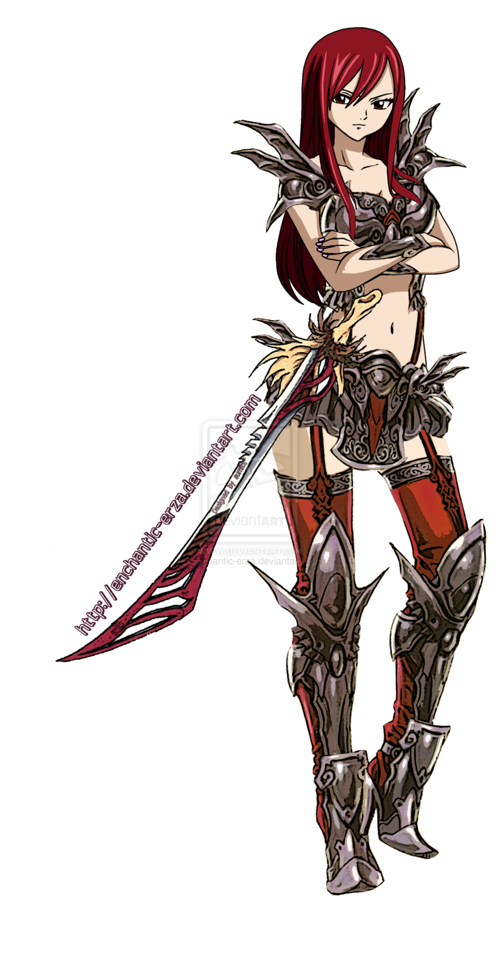 Fairy Tail Erza Scarlet Armor Erza Scarlet Demonite Armor By