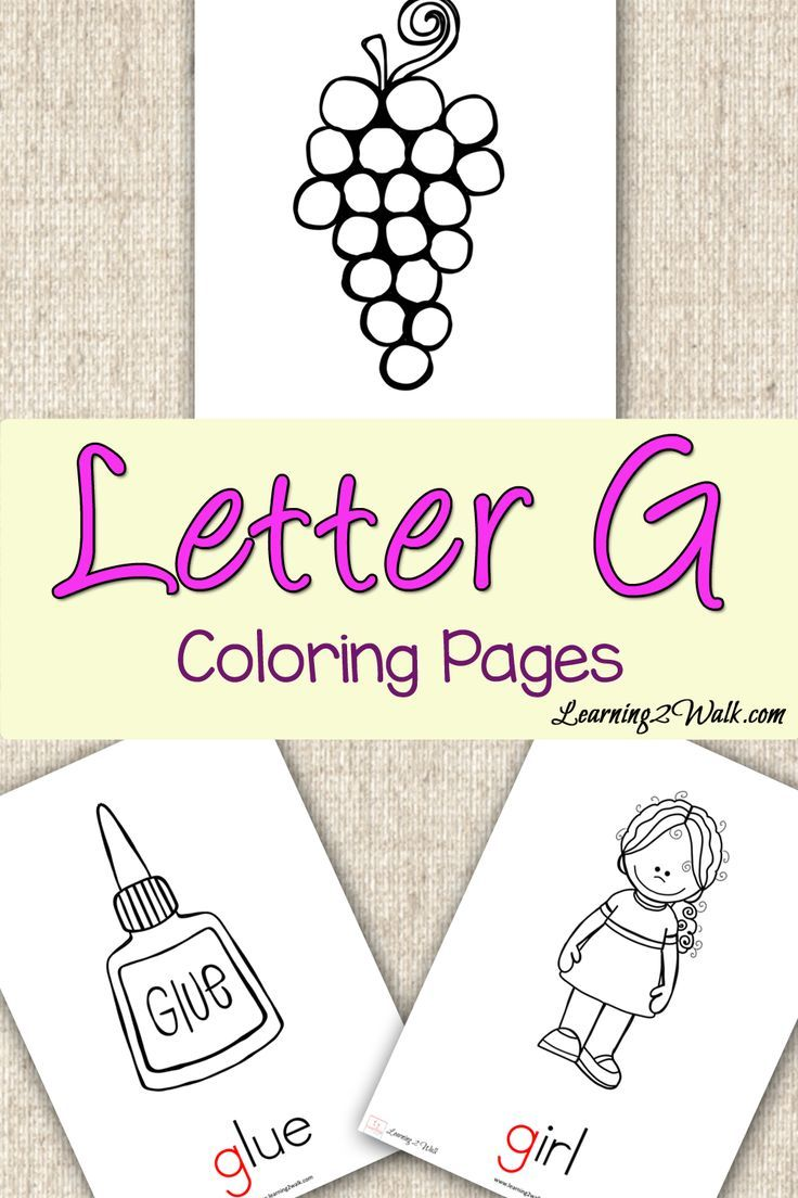 Preschool Letter Activities: Letter G Coloring Pages ...